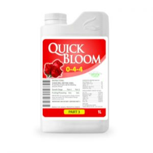 Quick Bloom Plant Food for use with LED Grow Lights, Hydroponics or Indoor Gardening
