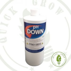 Quick Grow PH Down for use with LED Grow Lights, Hydroponics or Indoor Gardening