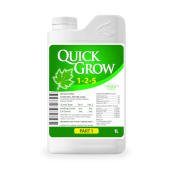 Quick Grow Plant Food for use with LED Grow Lights, Hydroponics or Indoor Gardening