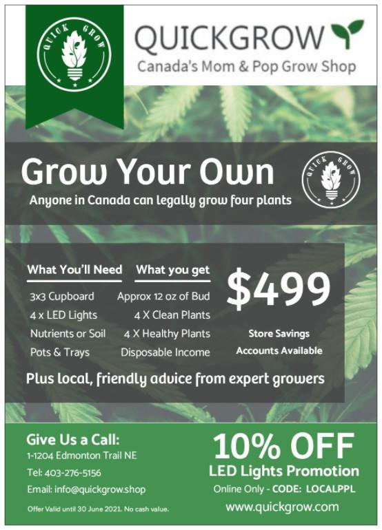 Grow Your Own Cannabis Flyer - Soil